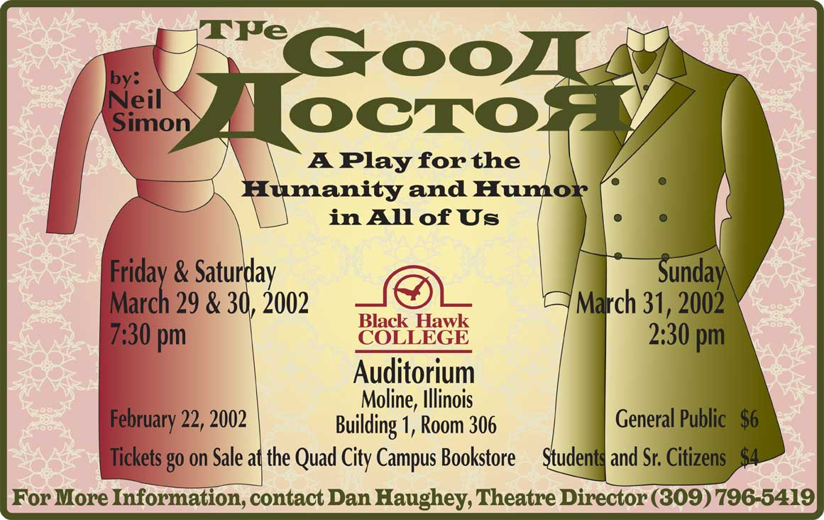 The Good Doctor Black Hawk College Play Poster
